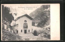 Cartolina Courmayeur, Santuario Di N. S. De La Guérison - Altre Città