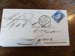 Liquidation Collection Paris Sur N°14 ,a Voir!! Nuance Et Variété. Lettre H - 1853-1860 Napoleon III