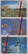 PORTUGAL - Set Of 3 Cards, Lisboa/Monuments, Tirage 5000, 07/01, Mint - Portugal