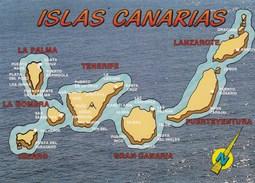 CPM - Carte Géographique - Iles Des Canaries - Cartes Géographiques