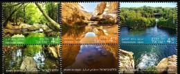 Israel - 2015 - Rivers In Israel - Mint Stamp Set With Tabs - Ongebruikt (met Tabs)