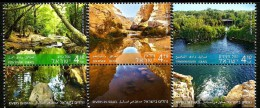 Israel - 2015 - Rivers In Israel - Mint Stamp Set With Tabs - Israel