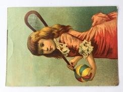 """CHROMO 1900 """"LA CAFETIÈRE FLAMANDE  """"chicorée .(E,JONCKHEERE-LOBELLE (belgique) Fillette Jouant Tennis - Chromos"""