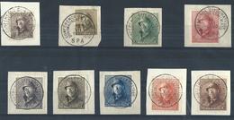 9 Valeurs De L'émission Avec Càd CONFERENCE DIPLOMATIQUE DE SPA /10/VII/1920 - 1919-1920 Albert Met Helm