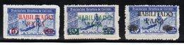 Lot De 3 Vignettes Espagne 1946, Association Au Bénéfice De La Poste. Surcharge Habilitado Para. - Erinnophilie
