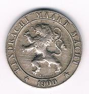 5 CENTIMES 1900 VL BELGIE /305C/ - 1865-1909: Leopold II