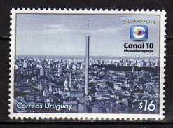 "Uruguay 2006 The 50th Anniversary Of The TV Station ""Kanal 10"".Science & Technology/Radio.MNH - Uruguay"