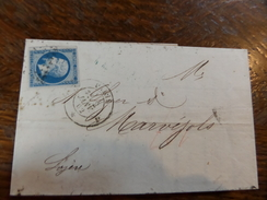 Liquidation Collection Paris Sur N°14 ,a Voir!! Nuance Et Variété. Lettre J - 1853-1860 Napoléon III.