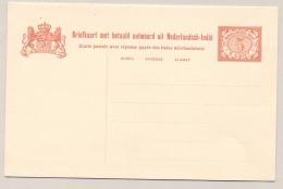 Nederlands Indië - 1908 - 5+5 Cent Vürtheim Met Scheidingslijn, Briefkaart G18 H&G A18 Ongebruikt / Unused - Nederlands-Indië