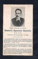 MILITARIA APARICIO SARAVIA URUGUAY CIVIL WAR 1904 REVOLUTION MOURNING CARD II - Army & War
