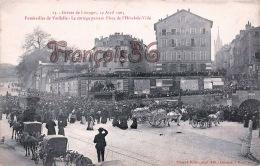 (87) Grèves De Limoges Avril 1905 - Funérailles De Vardelle - Cortège Passant Place De L' Hôtel De Ville - 2 SCANS - Limoges