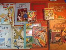 12 Vintage Ca1940 Children Books Disney Alice Aladin Mercatali Gubellini Eulalie - Books, Magazines, Comics