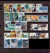 Australia Antarctic Territory 5 Old Set MNH HUSKY DOG Whale Fish Bird Plane - Unclassified
