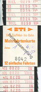 Schweiz - BTI - Biel-Täuffelen-Ins-Bahn - Mehrfahrtenkarte Fr. 4.- - Bahn