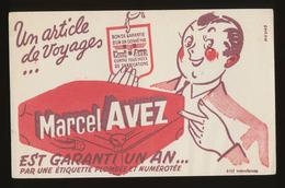 Buvard - ARTICLE De Voyage AVEZ Marcel - Blotters