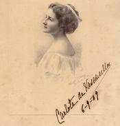 CARLOTA De VASCONCELLOS. Fotografia 1909 Ou 1919. Old Real Photo 18.3cm X 24.7cm  PORTUGAL - Photos