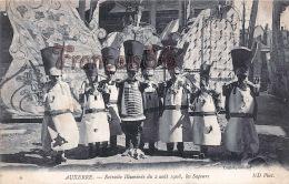 (89) Auxerre - Retraite Illuminée Du 2 Août 1908 - Les Sapeurs - 2 SCANS - Auxerre