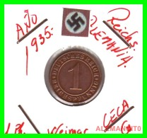 GERMANY  -   MONEDA  DE  1- REICHSPFENNIG  AÑO 1935.G  Bronze - 1 Rentenpfennig & 1 Reichspfennig