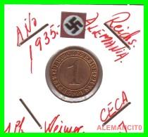 GERMANY  -   MONEDA  DE  1- REICHSPFENNIG  AÑO 1935 J  Bronze - 1 Rentenpfennig & 1 Reichspfennig