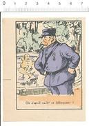 Humour Devinette Agent De Police Ou Garde-champêtre ?? Cherchant Le Délinquant Uniforme Ancien  198PF19 - Old Paper