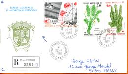 TAAF ; 1986;enveloppe ; Kerguelen ; Recommandé - Terres Australes Et Antarctiques Françaises (TAAF)