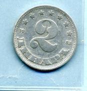 1953  2 DINAR - Yougoslavie