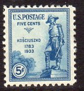 USA 1933 5c Naturalisation Of Kosciuszko, Hinged Mint (SG 733) - Ungebraucht
