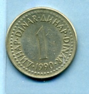 1990  1 DINAR - Yougoslavie