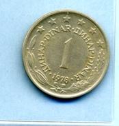 1978  1 DINAR - Yugoslavia