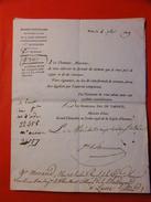 DOCUMENT 1819 / DUC DE TARENTE / MARECHAL MAC DONALD / CHEVALIER DE MALTE TRES RARE - Postmark Collection (Covers)