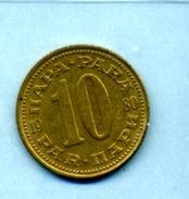 1980  10 PARA - Yougoslavie