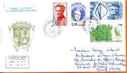 TAAF ; 1989;enveloppe ; St Paul - Terres Australes Et Antarctiques Françaises (TAAF)