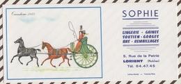701  BUVARD SOPHIE LORIENT LINGERIE SERIE VIEILLES VOITURES TANDEM 1855 - Textile & Clothing