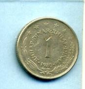 1980 1 DINAR - Yougoslavie
