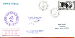 TAAF ; 1987;enveloppe ; Terre Adélie; - Terres Australes Et Antarctiques Françaises (TAAF)