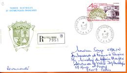 TAAF ; 1987;enveloppe ; Crozet ; Recommandé - Terres Australes Et Antarctiques Françaises (TAAF)