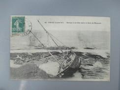 CPA 44 PIRIAC BARQUE A LA COTE DANS LA BAIE DE MESQUER - Piriac Sur Mer