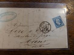 Liquidation Collection Paris Sur N°14 ,a Voir!! Nuance,et Variété.lettre D - 1853-1860 Napoléon III.