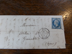 Liquidation Collection Paris Sur N°14 ,a Voir!! Nuance,et Variété.etoile - 1853-1860 Napoléon III.
