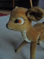 """Ancien Petit Faon """"Bambi"""" En Peluche Années 50 Allemagne - Peluches"""