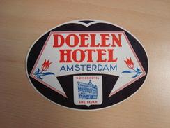 Etiquette DOELEN HOTEL AMSTEDAM - Netherlands