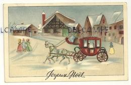 Joyeux Noël. Calèche Dans Une Ville Enneigée - Non Classificati