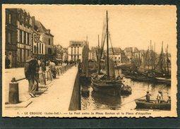 CPA - LE CROISIC - Le Port Entre La Place Boston Et La Place D'Aiguillon, Animé - Bateaux De Pêche - Le Croisic