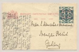 Nederlands Indië - 1925 - LB BRASTAGI Op 7,5 Cent Opdruk- Briefkaart G33 Naar Galang - Niederländisch-Indien