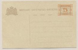 Nederlands Indië - 1929 - 5 Cent Opdruk Op 7,5 Cent Cijfer, Briefkaart G46, Ongebruikt / Unused - Nederlands-Indië