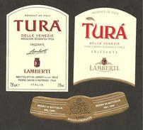 ITALIA - 2 Etichette Vino TURA' DELLE VENEZIE Cantine LAMBERTI Di Pastrengo Rosato Del VENETO - Vino Rosato