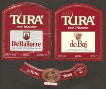 ITALIA - 2 Etichette Vino TURA' DELLE VENEZIE Cantine DELLA TORRE E DE BAJ Di Illasi Rosato Del VENETO - Vino Rosato