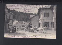 Schweiz AK St. Cergue Depart Des Postes 1907 - VD Vaud