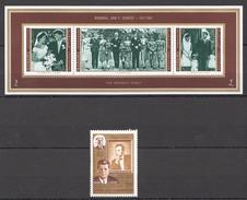 O68 !!!IMPERFORATE,PERFORATE MANAMA, SOUTH ARABIA MEMORIAL JOHN KENNEDY KB+ST MNH
