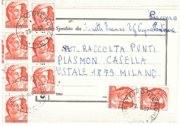 AFFRANCATURA MULTIPLA PONTENURE - 1961-70: Storia Postale